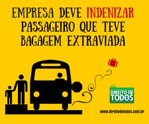 Empresa deve indenizar passageiro que teve bagagem extraviada