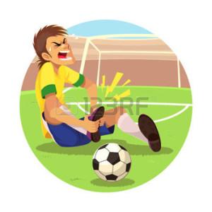 acidente jogando bola
