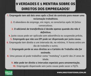 9 VERDADES E 1 MENTIRA SOBRE OS DIREITOS DOS EMPREGADOS!