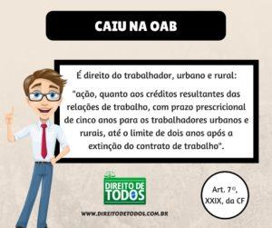 Prescrição - dicas OAB