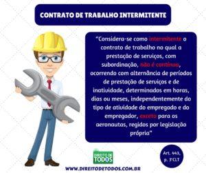CONTRATO DE TRABALHO INTERMITENTE