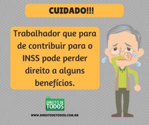 Parar de contribuir para o INSS