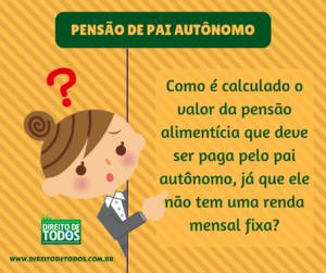 PENSÃO DE PAI AUTÔNOMO