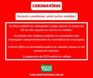 coronavírus emprego e direitos do trabalhador