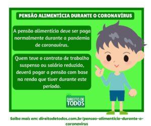 pensão alimentícia durante o coronavírus