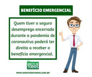 fim do seguro desemprego benefício emergencial