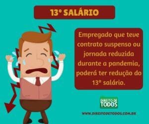 13º salário de quem teve contrato suspenso ou reduzido