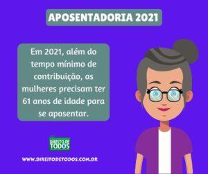 mudanças na aposentadoria para 2021